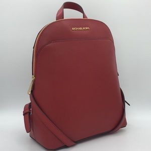 MICHAEL KORS MK EMMY Large DOME BACKPACK SCARLET